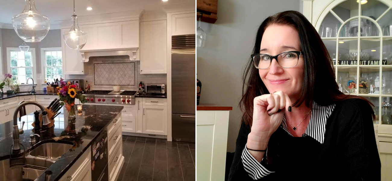 Photo of Theresa Murphy and her kitchen design