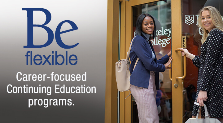 Be flexible. Career-focused Continuing Education programs. This is a responsive version of the image.