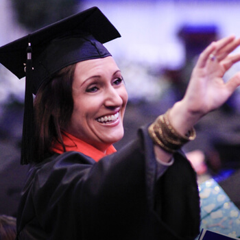 woman in commencement ceremony