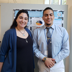 Amal and El Mehdi Bendriss at Honors Presentation