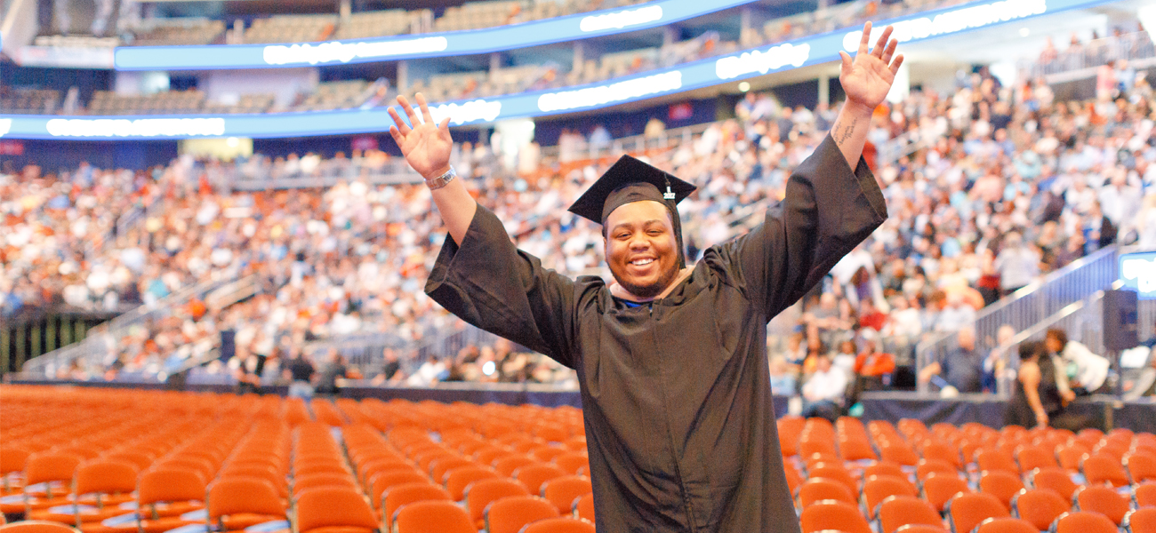 Amire Carter at Commencement