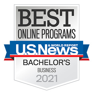 U.S. News and World Report logo for Best Online business Program for 2021