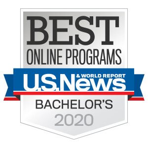 U.S. News and World Report logo for Best Online Bachelor's Programs 2019