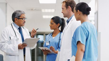 image of doctors talking
