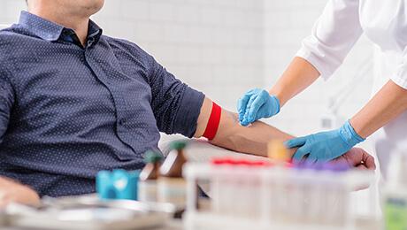 blood sample testing