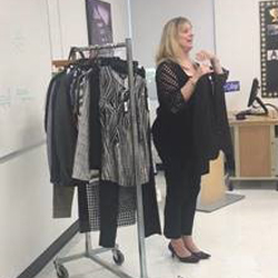 Macy's expert talking about fit of clothes