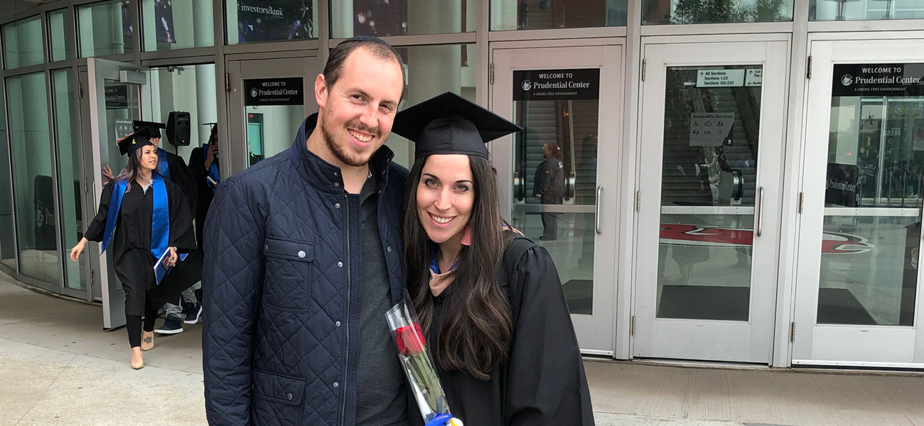 Sarah Hersh and Husband at Commencement