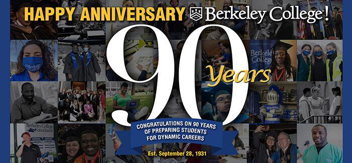 Berkeley College 90th anniversary collage