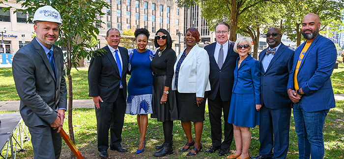 Berkeley College celebrates its 90th anniversary with a cherry tree-planting ceremony held in Newark's Washington Park
